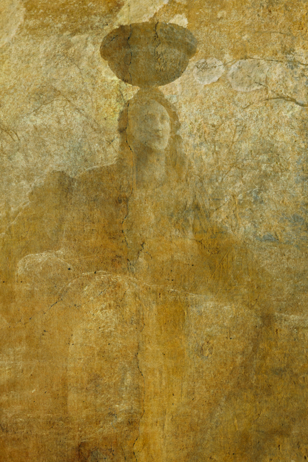 Ceres, Goddess of Fertility Sacred Grove - Gardens of Bommarzo, Italy ref# 0016_gold_fresco