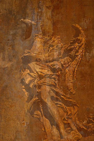 Angel with Bird Castel St. Angelo 2009 Rome ref# Z8D6592_layer