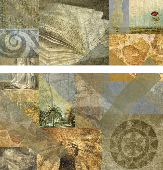 Open Book: Fresco Photography Collage Diptych 6 x 6 ft. (Stanford University, CA)