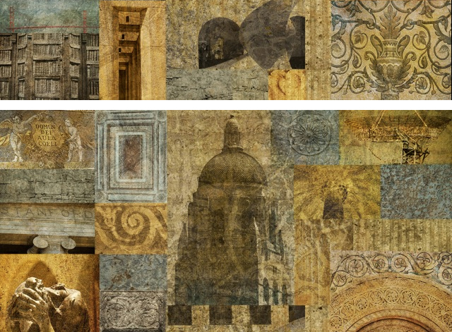 The Mystery of Knowledge: Fresco Photography Collage Diptych 7 x 5ft. (Stanford University, CA)